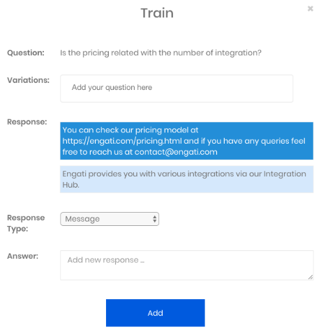 training for chatbot