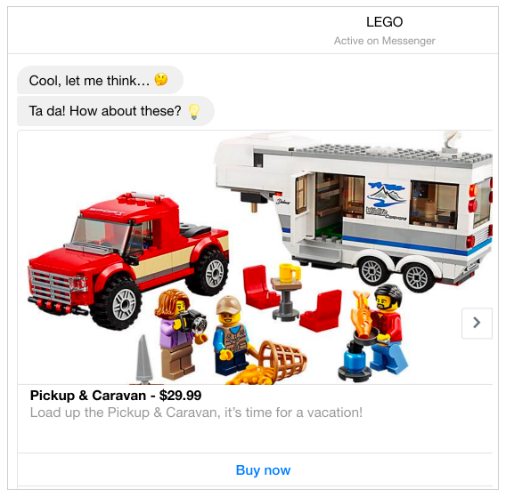 more LEGO chatbot